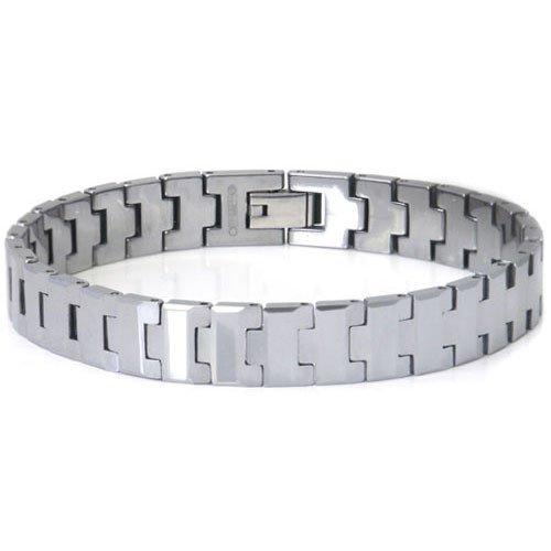Men's Tungsten Carbide Contemporary Link Bracelet 8