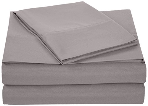 Cheapest Price! AmazonBasics Microfiber Sheet Set - Twin, Dark Grey