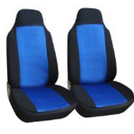 Classic Premium Bucket Cloth Car Truck Auto Seat Covers Black / Blue Color front-75241