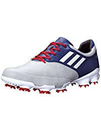 Adidas adiZero Tour Men's Golf Shoes (12 Medium US, Light Grey/Running White/Blue)