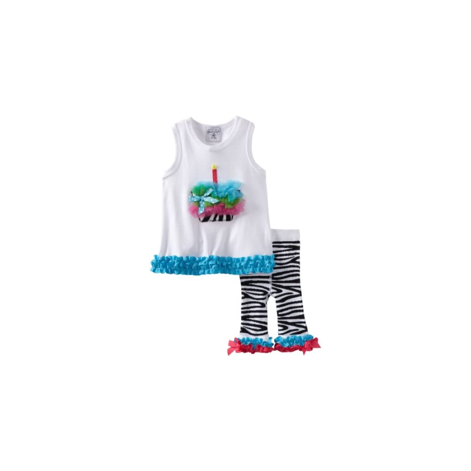 Mud Pie Baby Girls Wild Child Zebra Tunic And Capri Set