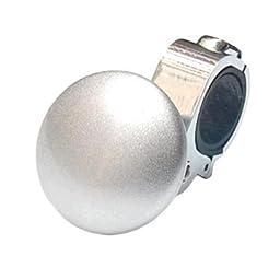 Car Auto Steering Wheel Suicide Spinner Knob Handle Grip Ball Silver