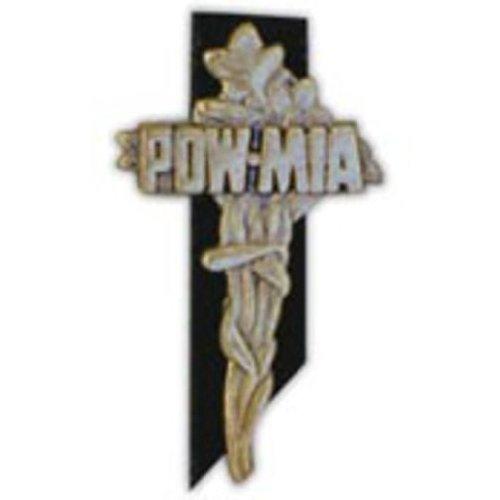 POW MIA Memorial Cross Pin 1 7/16