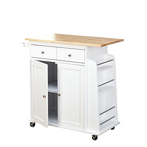 Target Marketing Systems Sonoma Kitchen Cart White Natural Furniture Carts Islands