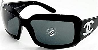 CHANEL 5076-H 501/87 MOTHER OF PEARL 5076H SUNGLASSES Gray Lens & Black Frame Size 61-16-120