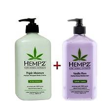 buy Hempz Whipped Body Creme - Triple Moisture Herbal 17Oz And Vanilla Plum Herbal Body Moisturizer 17 Fl Oz