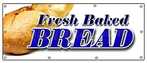 """36""""x96"""" FRESH BAKED BREAD BANNER SIGN bakery shop signs stand cookies cake"""