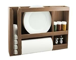 SeaTeak 62402 Dish/Cup/Spice/Towel Rack