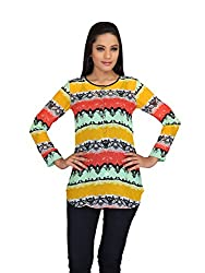 lol Multi-Coloured Color Self Printed Casual Top for women