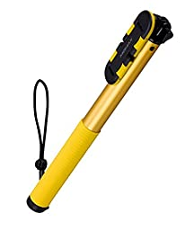 Momax Super Long 150cm/5ft Extendable Bluetooth Wireless Remote Selfie Stick with Gesture Recognition for iPhone 6 Plus Samsung Galaxy S7 etc (Yellow)