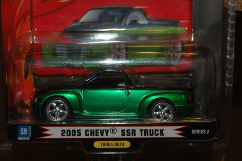 1 BADD RIDE 2005 GREEN CHEVY SSR TRUCK SERIES 2 1/64 SCALE
