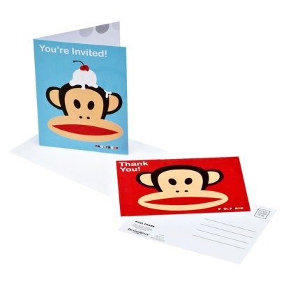Paul Frank Monkey Party Invitations and Thank You Notes