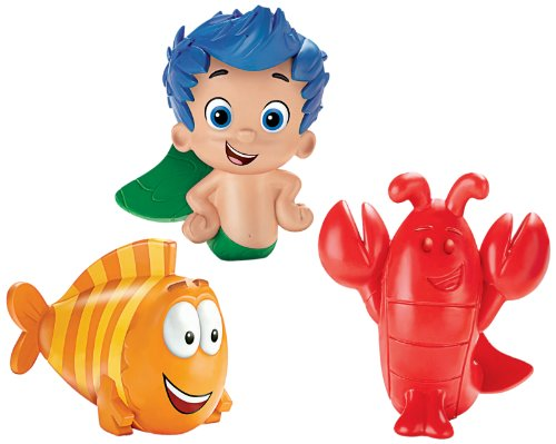 Fisher-Price Nickelodeon Bubble Guppies Gil, Mr. Grouper, Lobster Bath Squirters - 1