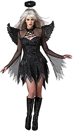 LEA Sexy Halloween Zombie Cosplay Devil Costumes Fallen Angel Dress Costume With Wing