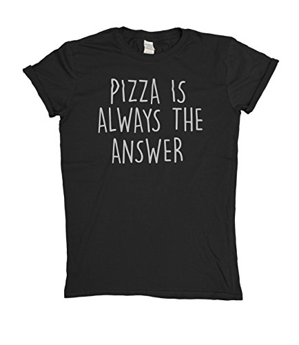 pizza-is-always-the-answer-mens-ladies-funny-slogan-unisexo-fit-t-shirt-para-hombre-y-mujeres-camise