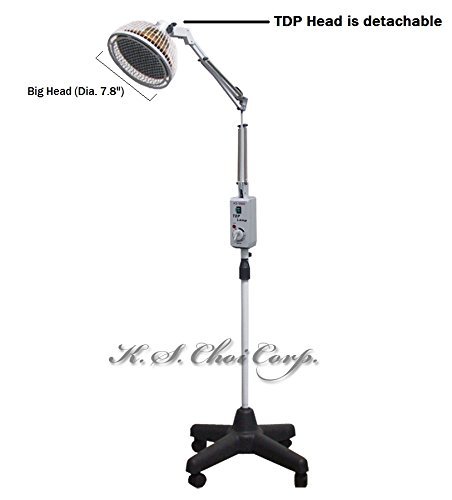 best deals tdp far infrared mineral heat lamp with a detachable head. Black Bedroom Furniture Sets. Home Design Ideas