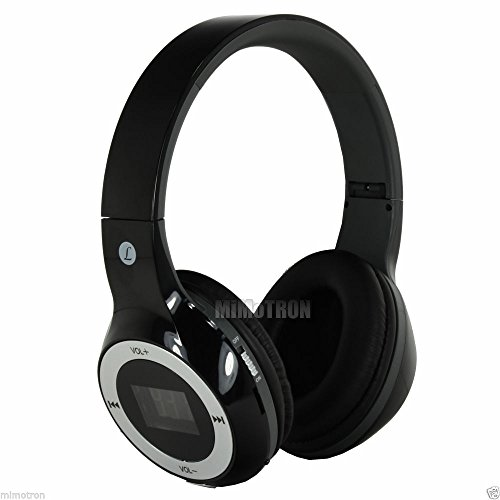Max-Micro Bluetooth Wireless V.2.1 Stereo Over The Ear (Ear Cup) Headphone W/ Fm Radio & Card Reader (Black Color)