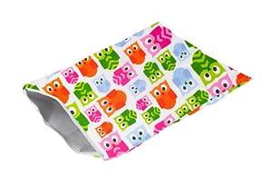 Itzy Ritzy Travel Happens - Bolsa con cremallera para pañales y ropa mojada (tamaño grande), diseño de búhos de Itzy Ritzy - BebeHogar.com