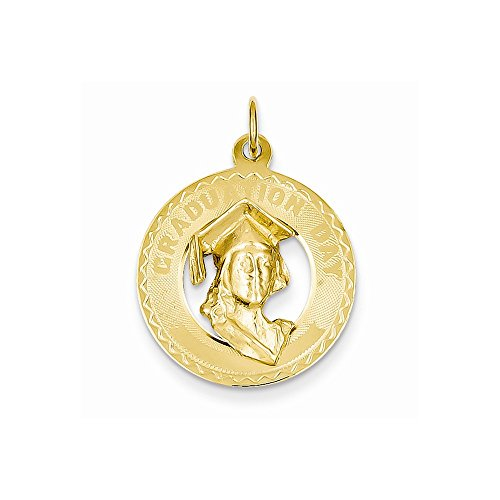 14k White Gold .013 Gauge Engraveable Scalloped Disc Charm