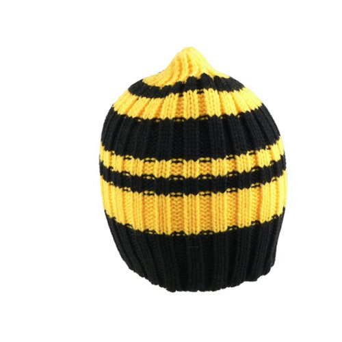 Black & Gold Striped Knitted Hat from SteelerMania