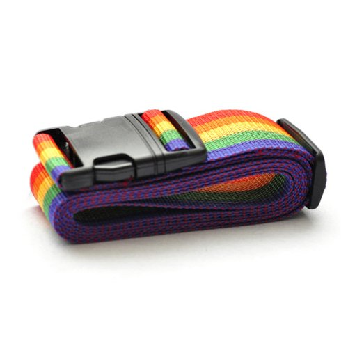 Rainbow Color Luggage Straps, Travel Accessories