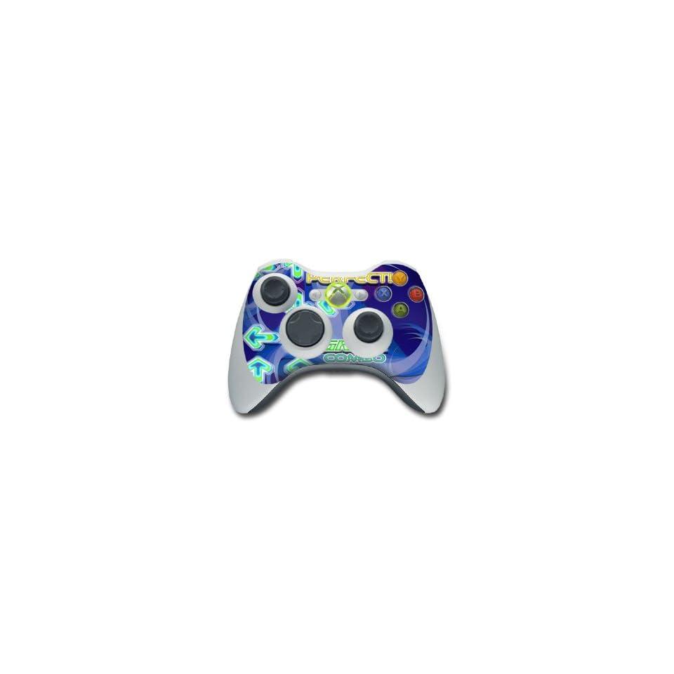 Dance Arcade Blue Design Skin Decal Sticker for the Xbox 360 Controller