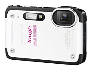 Olympus TG-620 Digitalkamera (12 Megapixel, 5-fach opt. Zoom, 3 Zoll Display, True Pic 6 Prozessor, Wasserdicht bis 5m, kälteresistent, staub- und stoßgeschützt) weiß
