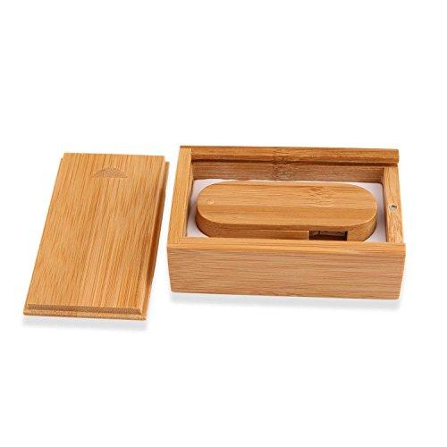 ranipobo rotazione banboo legno 32 GB USB 2.0 ad alta velocità Unità di Archiviazione Flash Memory Stick a forma di coltellino svizzero Bamboo and Box Wooden 32 Gb