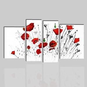 Quadri moderni astratti olio su tela dipinti a mano bianco for Amazon quadri moderni astratti