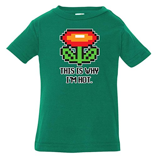 Inktastic Baby Boys' This Is Why I'M Hot Baby T-Shirt 6 Months Kelly Green