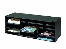 STEELMASTER Sorting and Distribution Rack, 33.5 x 10.38 x 12 Inches, Black (20633SRBK)