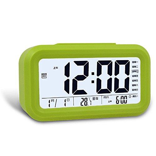 Ieasycan Digital Snooze Alarm Clock Smart Night Light Sensor LCD Time Calendar Display Table Watch Kid Bedroom Clock Sleep Timer (Up24 Warranty compare prices)