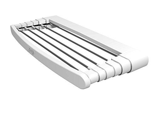Gimi Telepack 100 Stendibiancheria da Parete in Resina e Alluminio, 7 m Stendibili