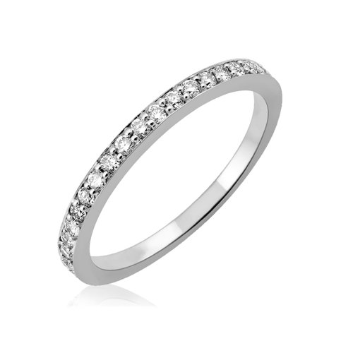 14k White Gold Wedding Diamond Band Ring (1/4 Carat)