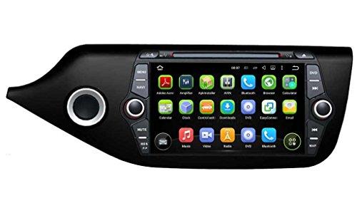 8 pollici Android 5.1.1 Lollipop OS Lettore DVD dell'automobile per Kia Ceed 2014 2015,DAB+ radio Quad Core 1.6G Cortex A9 CPU 16G Flash 1G RAM DDR3 1024x600 GPS Radio Ingresso Aux OBD2