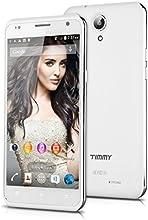 "TIMMY E86 - Smartphone libre (pantalla 5.5"", Cámara 8.0 Mp, Android 4.4 MTK6582, 8 GB ROM, Quad-Core, Dual SIM, 3G), Blanco"