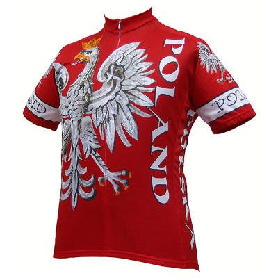 Image of World Jersey's Men's Poland Short Sleeve Cycling Jersey (B002FZ4P3Q)
