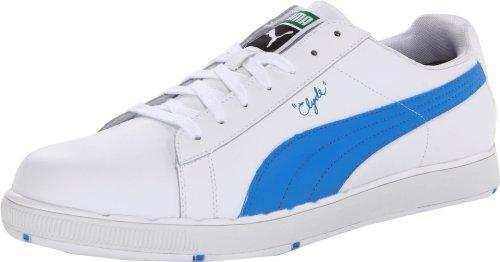 e3a91c3292f The Features Puma Golf Footwear Mens PG Clyde Shoe White Brilliant Blue 7 D  US -