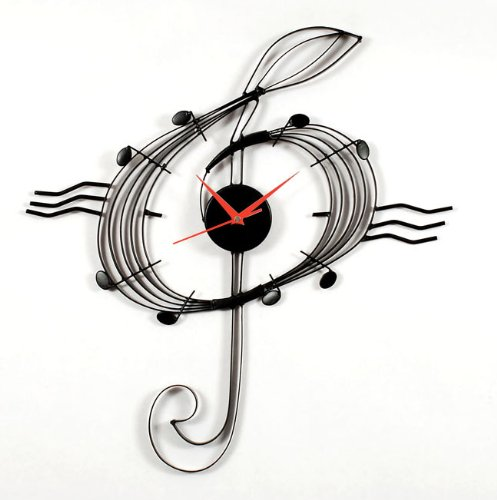 Mz Berger Musical Clef Clock front-1077424