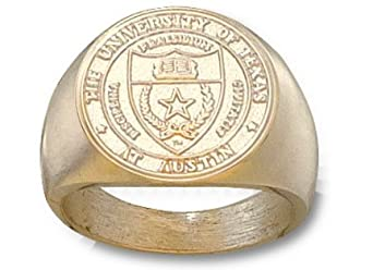 Texas Longhorns Seal Mens Ring Size 10 1 2 - 14KT Gold Jewelry by Logo Art