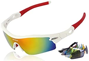 1d0dbcdf5b RIVBOS 805 POLARIZED Sports Sunglasses with 5 Set Interchangeable Lenses  for Cycling