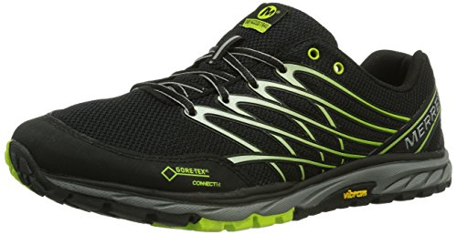 Merrell - Bare Access Trail Gtx, Scarpe Outdoor Multisport da uomo, Multicolore (Mehrfarbig (BLACK/LIME)), 43 EU (8.5 Herren UK)
