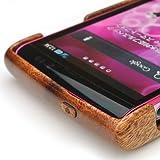 AQUOS PHONE si SH-01Eケースカバー(木製:高級木マホガニー)無料修理保証有り