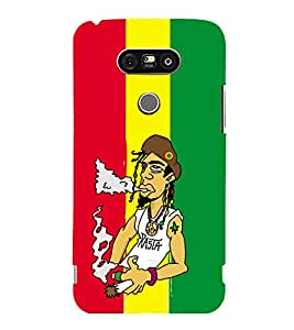 printtech Weed Dude Cool Smoke Back Case Cover for LG G5 :: LG G5 Dual H860N with dual-SIM card slots