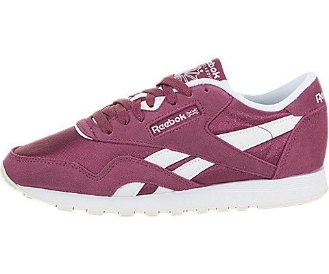 Reebok Womens Classic Nylon Leather Low Top Lace Up Fashion Sneakers