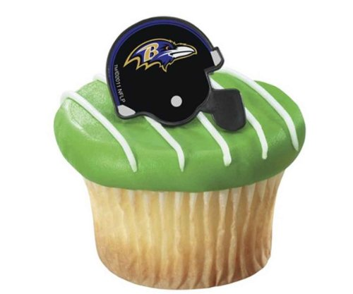 NFL Baltimore Ravens Cupcake Rings 12 Pack at Amazon.com