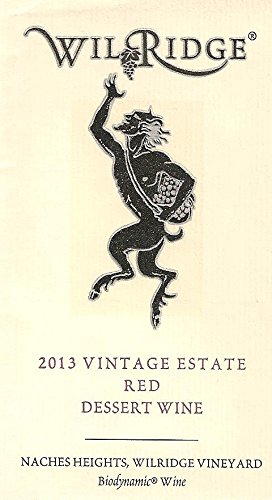 2013 Wilridge Winery Naches Heights Vintage Estate Red Port Style Dessert Wine 375 Ml