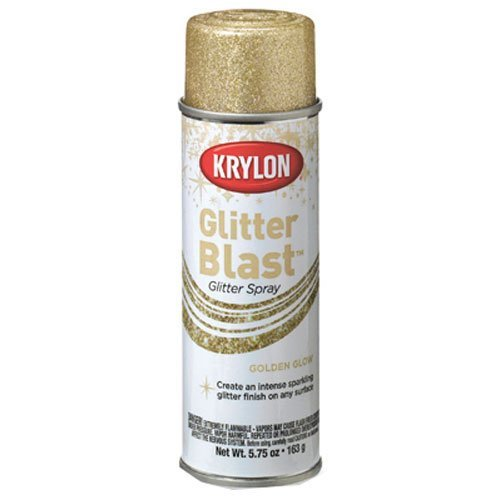 Krylon K03801 Glitter Blast, Golden Glow (Gold Spray Paint compare prices)