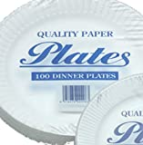 Paper plates 23cm Pack of 100