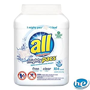 All Free & Clear Mighty Pacs Laundry Detergent, 73.2 Fluid Ounce